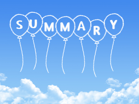 Summary cloud shape 版權商用圖片