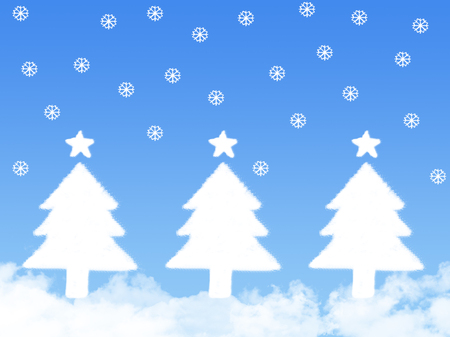christmas backdrop: tree cloud by christmas concept