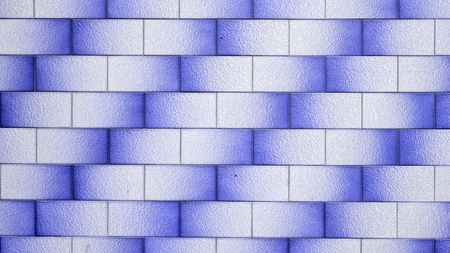 blue background of brick wall texture Stock Photo