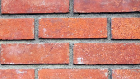 concrete surface finishing: Close-up red Brick walls