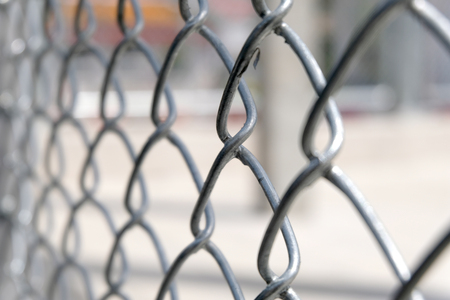 Wire fence close up Stock Photo