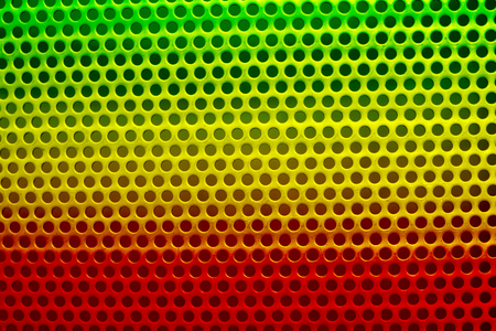 reggae color steel surface with little round holes