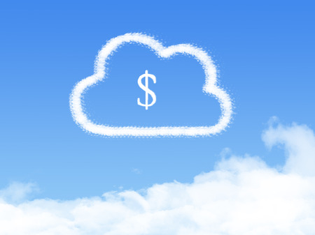 Cloud Computing Concept.Make money cloud shape Stockfoto