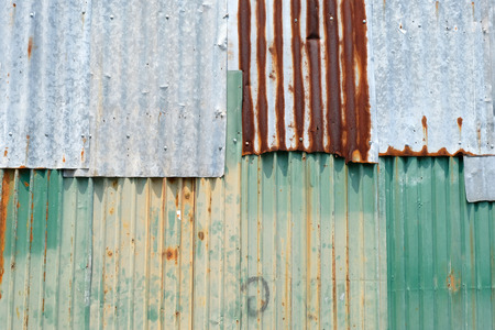 Old zinc wall surface Fence Stock Photo