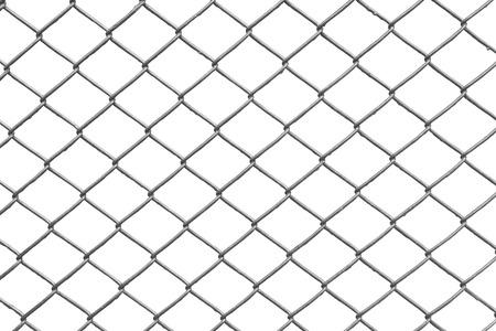 recinzione di collegamento a catena con sfondo bianco Archivio Fotografico