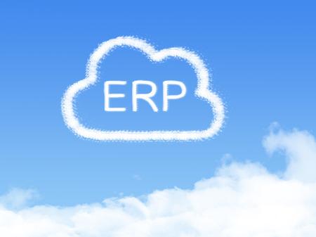 ERP cloud shape on blue sky 写真素材
