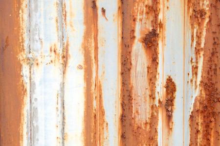Valla de superficie de pared de zinc antiguo Foto de archivo