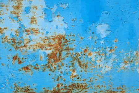 old rusty blue zinc grunge texture background Stockfoto