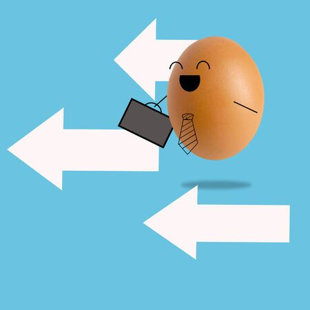 Businessman egg and many arrow , success concept