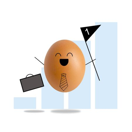 Businessman egg is winner , success concept