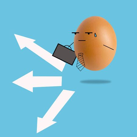 businessman egg have many way Standard-Bild - 128770333