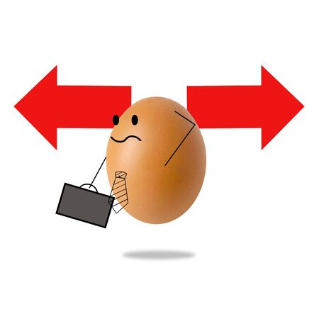 businessman egg have many way
