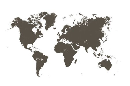 bruine kaart van de wereld