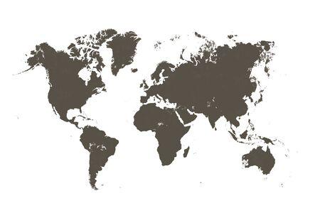 mappa marrone del mondo