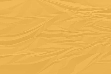 crumpled orange paper background close up