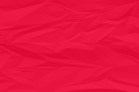 crumpled red paper background close up