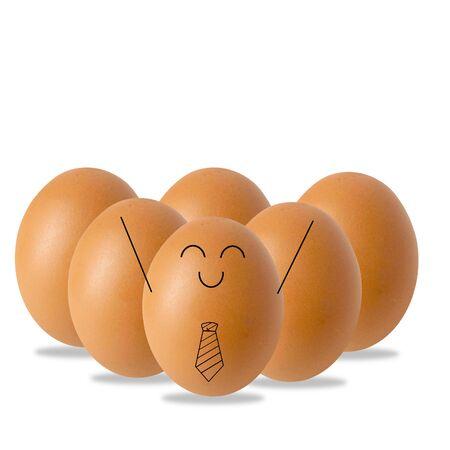 Leader Businessman egg, success concept
