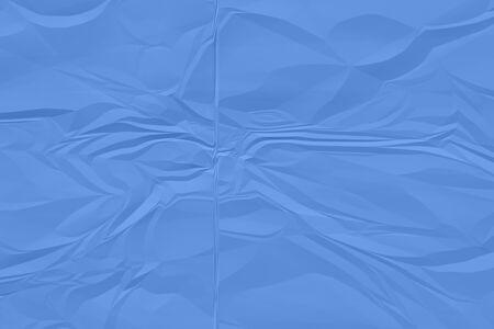 crumpled blue paper background close up