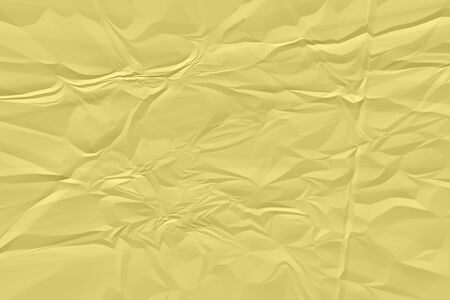 crumpled yellow paper background close up Reklamní fotografie
