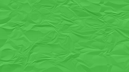 crumpled green paper background close up
