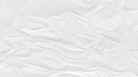crumpled white paper background close up
