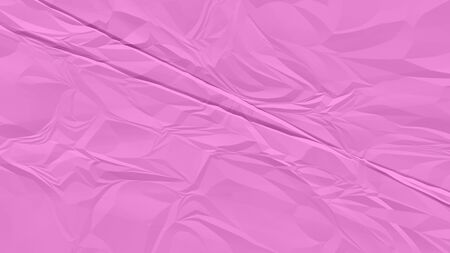 crumpled pink paper background close up