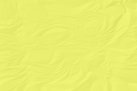 crumpled yellow paper background close up Stock Photo