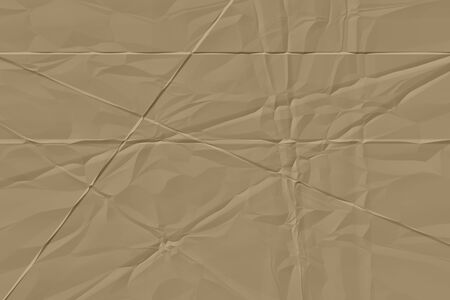 crumpled brown paper background close up Stock Photo