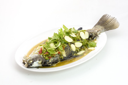 lemon steamed snapper fish