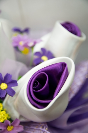 Artificial Purple Flower Made From Fabric