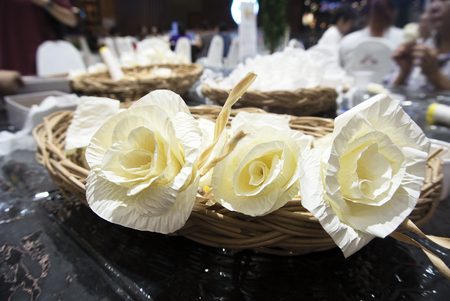 Artificial flower to be placed on the site of cremation ceremony Stock Photo