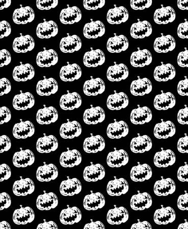 pumpkin head: jack-o-lantern pumpkin head black and white color pattern Stock Photo