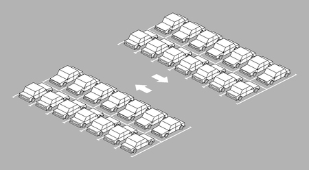 Car park full with arrow on road black and white color on gray background  イラスト・ベクター素材