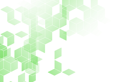 diamond background: Abstract diamond square box background green color with copy space Illustration