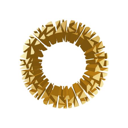 Der Buchstabe F, Im Alphabet 3D-Perspektive Gesetzt Gold Farbe ...