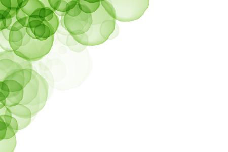 overlap: Green circle overlap color abstract background, with copy space Stock Photo