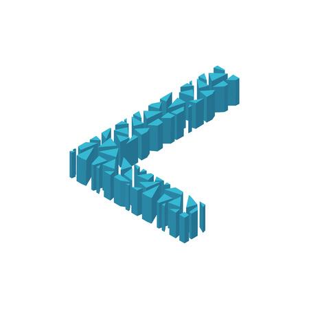 Der Buchstabe L Im Alphabet 3d Perspektive Isometrische Gesetzt ...