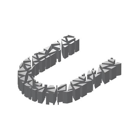 Die Buchstaben T, Im Alphabet 3d Perspektive Setzen Silberne Farbe ...