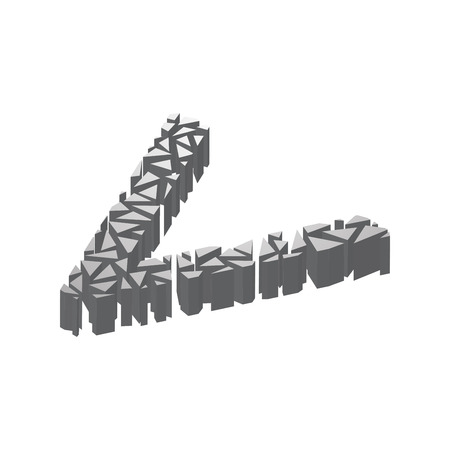 Die Buchstaben Q, Im Alphabet 3d Perspektive Isometrische Satz ...