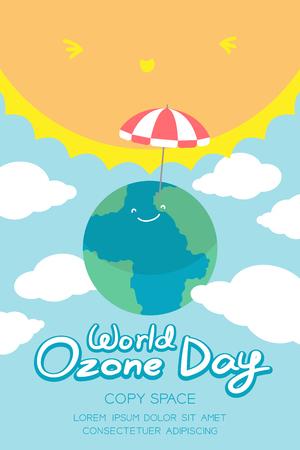 ozone layer: World Ozone Day, 16 September vertical Banner set.