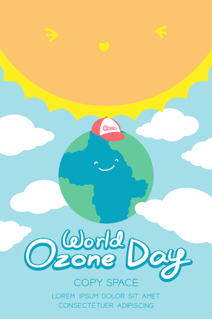 the greenhouse effect: World Ozone Day, 16 September vertical Banner set.