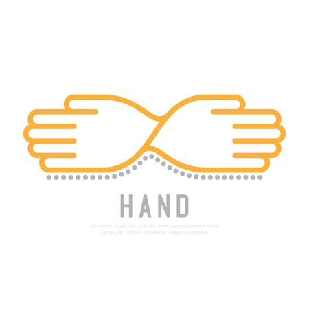Twisted Hands with dot shadow icon vector illustration