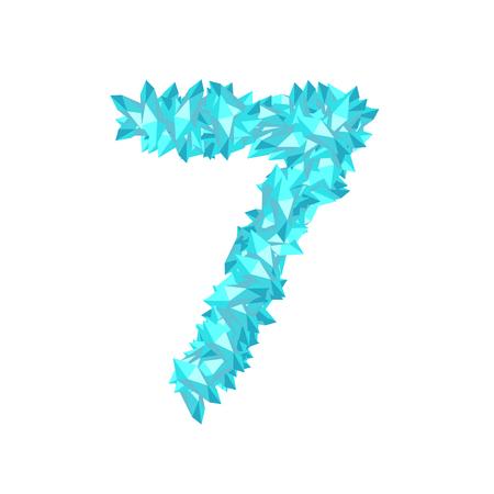 Number seven crystal design vector illustration