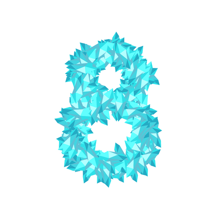 Number eight crystal design vector illustration