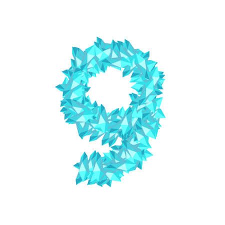 Number nine crystal design vector illustration