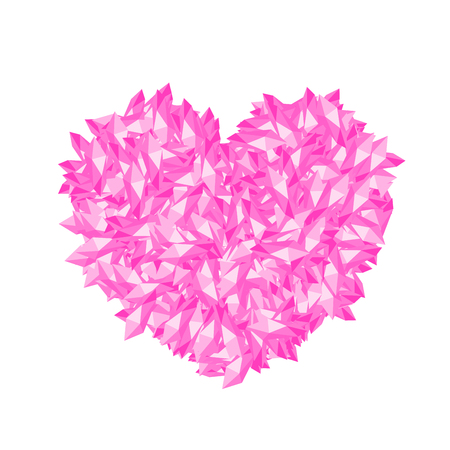 Heart symbol crystal design vector illustration