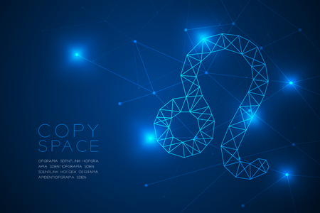 Leo Zodiac sign wireframe Polygon frame structure, Fortune teller concept design illustration isolated on blue gradient background with copy space, vector
