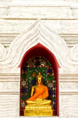 saun: images of Buddha in Wat Saun Dork, Chiang Mai province, Thailand