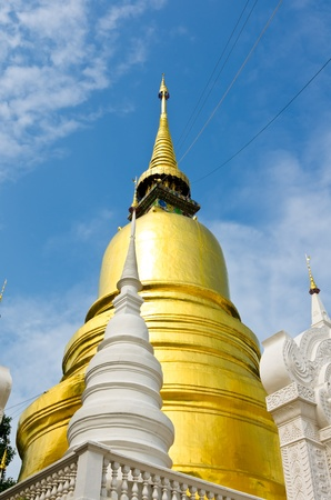 saun: Pagoda in Wat Saun Dork, Chiang Mai province, Thailand