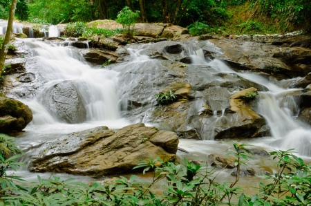 swerve: Waterfall in in thai national park  Stock Photo